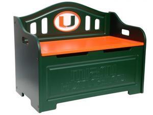 Adventure Furniture C0515P-Miami University of Miami Storage Bench