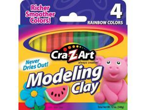 Cra-z-art Corporation 10900 4 Count Assorted Rainbow Colors Modeling Clay