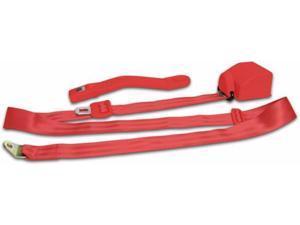 AUTOLOC POWER ACCESSORIES 54025 3 Point Retractable Red Seat Belt -1 Belt