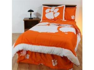 Comfy Feet CLEBBTWW Clemson Bed in a Bag Twin - With White Sheets
