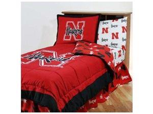 Comfy Feet NEBBBFLW Nebraska Bed in a Bag Full - With White Sheets