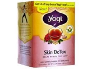 Yogi 27045-3pack Yogi Herbal Skin Detox Tea - 3x16 bag