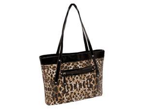 McKlein USA 11287 Parinda Fiona Quilted Carry All Tote Bag, Leopard