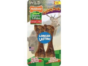 Nylabone Corp-Bones 491527 Healthy Edibles Wild Variety Venison & Bison, Small