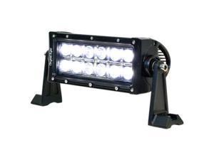 """IPCW (11036-3060) 7"""" LED Light Bar, 2 Row 12 LED, 36W. Combo (30-Degree Flood Light Center +60-Degree Flood Light Outer), S1-Side Mount, Rivets"""