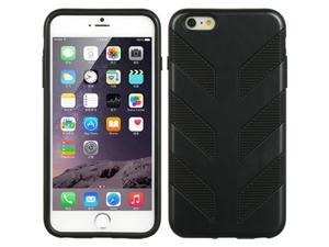 DreamWireless TCRIP6L-FB-BK Apple iPhone 6 Plus Hybrid Case Black TPU Plus Fish Bone PC - Black