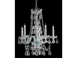 Crystorama Lighting 1125-CH-CL-S Traditional Crystal Collection Chandelier - Polished Chrome