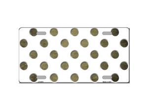 Smart Blonde LP-6970 Gold White Dots Oil Rubbed Metal Novelty License Plate