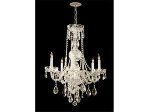 Crystorama Lighting 1115-PB-CL-SAQ Traditional Crystal Collection Chandelier - Polished Brass