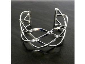 Artisana Silver Overlay Cuff Woven Design