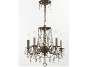 Mirabella Collection 5545-PW-CL-S Clear Swarovski Strass Wrought Iron Chandelier