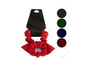 Bulk Buys BI625-72 Butterfly/Ruffle Flower Bow Accent Hair Twister