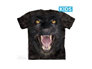 The Mountain 1538893 Aggressive Panther T Shirt, Extra Large