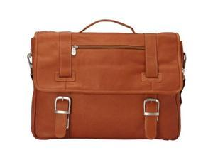 Piel Leather 3063 Flap - Over Soft Sided Brief - Saddle