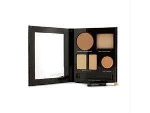The Flawless Face Book - # Sand (1x Creme Compact, 1x Pressed Powder w/ sponge, 1x Secret Camouflage...) - 5pcs