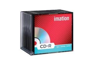 Imation 29908 CD-R 80 Min 700MB, 52X White Thermal Hub Printable
