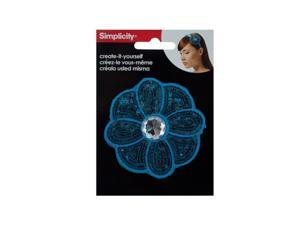 Bulk Buys WM404-96 Simplicity Turquoise Sequin Flower With Gem Headband Accent
