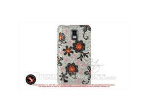 DreamWireless FDSAMINFSLBKDA Samsung Infuse I997 4G Full Diamond Case, Silver With Black Daisy
