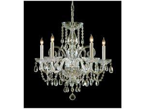 Crystorama Lighting 1005-PB-CL-S Traditional Crystal Collection Chandelier - Polished Brass