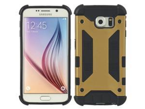 DreamWireless TCASAMS6-ARMOUR-GO Samsung Galaxy S6 Armour Hybrid Case Black TPU Plus Gold PC