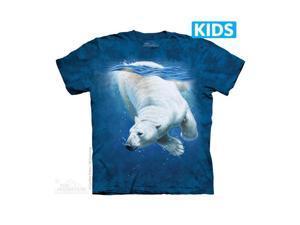 The Mountain 1540030 Polar Bear Dive Kids T Shirt, Small