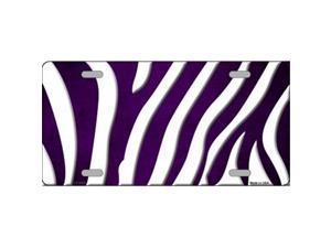 Smart Blonde LP-6926 Purple White Zebra Oil Rubbed Metal Novelty License Plate