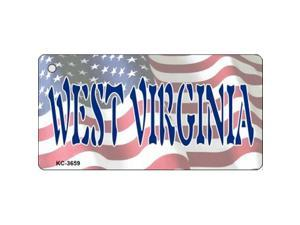 Smart Blonde KC-3659 West Virginia Novelty Key Chain