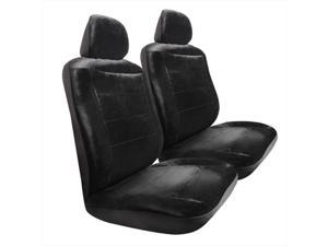 Pilot Automotive SC-417E Royal Velvet Seat Cover - Black, 3 Pieces