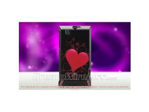 DreamWireless CAMOTA555CFH-R Motorola A555 Devour Crystal Case, Carbon Fiber Heart - Rear Only