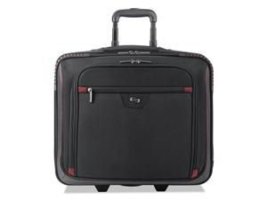 United States Luggage STL9054 Executive Rolling Overnighter - Black & Red, 16 in.