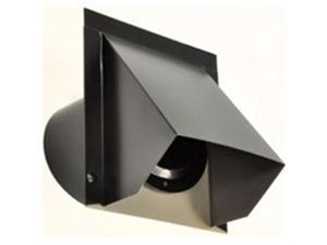 Ll Building Products WVA4B 4 in. Round Wall Vent, Black