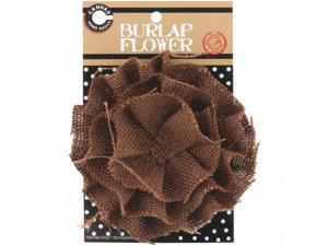 Canvas Corp BURFLWR-3396 Burlap Flower-Chocolate