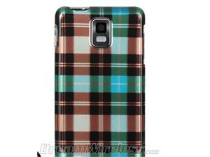 DreamWireless CASAMINFBLCK Samsung Infuse & I997 4G Crystal Case Blue Checker