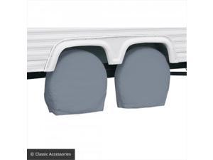 Classic Accessories 85171001 32-34.5 In. RV Windshield Cover - Gray, Pack - 2