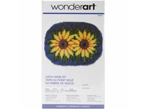 Caron 426125C Wonderart Latch Hook Kit 20 in. x 27 in.-Sunflower