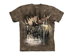The Mountain 1033662 Moose Forest T-Shirt - Large