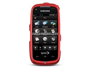 DreamWireless CRSAMS50RD Samsung Instinct HD S50 Crystal Rubber Case, Red - sprint