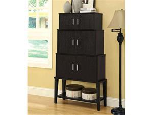 Monarch Specialties I 2547 Cappuccino 55 in. Stacking Style Storage Cabinet