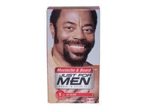 Brush-In Color Gel Mustache & Beard Jet Black  NO.  M-60 by Just For Men for Men - 1 Kit Mustache & Beard Color