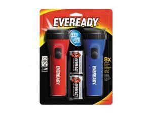 Eveready Battery L152S LED Economy Flashlight, Red & Blue