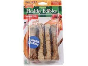 Nylabone Corp-Bones 491536 Healthy Edibles Combo Turkey & Apple, Regular