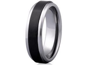Doma Jewellery SSTCCR00213 Tungsten Carbide & Ceramic Ring, Size 13