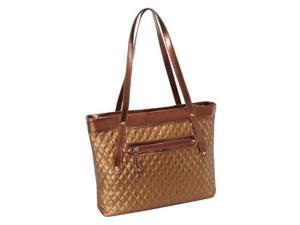 McKlein USA 11282 Parinda Fiona Quilted Carry All Tote Bag, Bronze