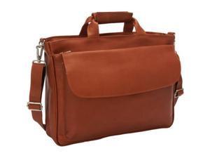 Piel Leather 2995 Top - Zip Laptop Brief Tote - Saddle