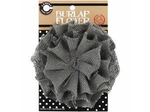 Canvas Corp BURFLWR-3031 Burlap Flower-Grey