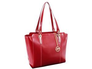 McKlein 97516 Alicia Leather Shoulder Tote, Red