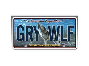 Ideaman LCNS-106 License Plate - Gray Wolf