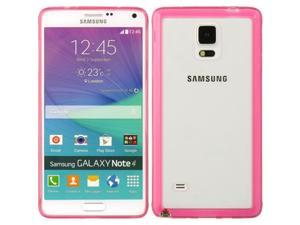 DreamWireless FTCSAMNOTE4HPCL-AU Samsung Galaxy Note4 Fusion Candy Case - Hot Pink Trim With Clear Agua