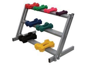 3-Shelf Dumbell Floor Rack