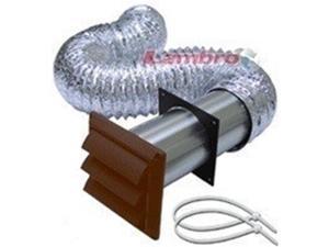 Lambro Industries 1359B 4 x 7 Brown Louver Vent Kit